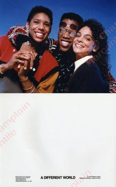 Dawnn Lewis, Kadeem Hardison & Jasmine Guy - A Different World Great Tv Shows, Old Tv Shows, Movies And Tv Shows, Dawnn Lewis, Jasmine Guy, Black Sitcoms, Good Morals, World Tv, A Different World