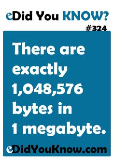 http://edidyouknow.com/did-you-know-324/ There are exactly 1,048,576 bytes in 1 megabyte.