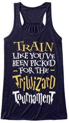 Train Like You've Been Picked For The Triwizard Tournament Midnight Women's Tank Top Front