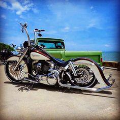 Harley Davidson Bike Pics is where you will find the best bike pics of Harley Davidson bikes from around the world. Harley Davidson Trike, Harley Davidson Museum, Classic Harley Davidson, Harley Bobber, Harley Softail, Harley Bikes, Female Motorcycle Riders, Motorcycle Paint Jobs, Custom Street Bikes