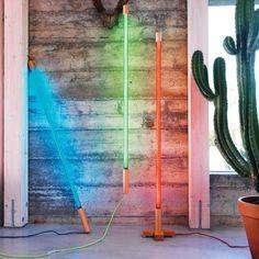 Neon Tube Lights, Fluorescent Tube Light, Floor Standing Lamps, Floor Lamp, Neon Furniture, Nevada, Acrylic Tube, Neon Lamp, Neon Lighting