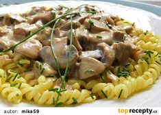 Czech Recipes, Ethnic Recipes, Stuffed Mushrooms, Food And Drink, Vegan, Chicken, Dinner, Cooking, Gnocchi