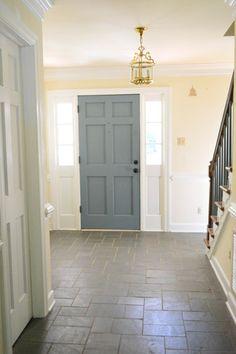 How to paint inside of front door