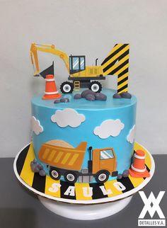 Construction cake Construction Cakes, Construction Birthday Parties, Toddler Birthday Cakes, 3rd Birthday, Pretty Cakes, Beautiful Cakes, Excavator Cake, Fancy Cakes, Birthday Cake Toppers