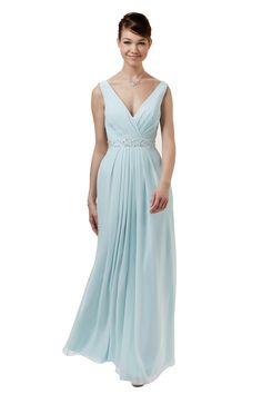 487109a03b9e Abendkleid Chiffon Mint Weise   Mode Bösckens Lange Abendkleider, Lange  Kleider, Mode Für Brautmutter