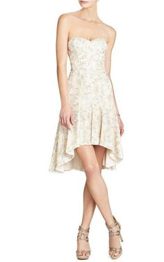 BCBG Max Azria Sequins Lace Homecoming Dress