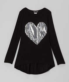 Take a look at this Black Sequin Heart Tunic by Rated G on #zulily today!