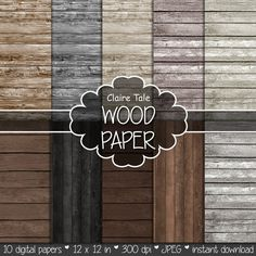 Wood digital paper: WOOD PAPER with distressed wood by ClaireTALE