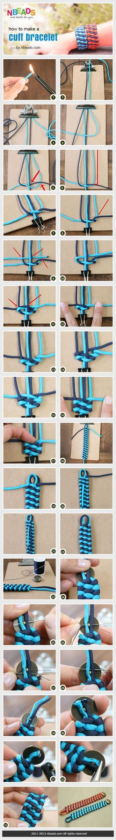 Paracord bracelet steps.  Our kids would love this summer fun activity!
