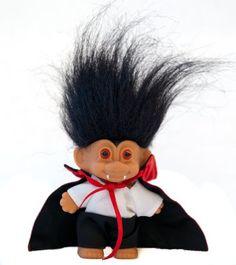 Amazon.com: My Lucky DRACULA VAMPIRE Mini Troll Doll w/Cape & Fangs: Toys & Games