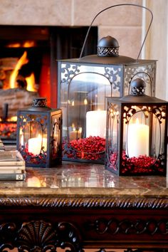 @Daunelle Bishop Bishop You need to fill your lantern with cranberries or holly berries for Christmas!