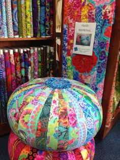 """The Blue Box in Bussellton WA has this """"Crazy Footstool"""" pattern"""