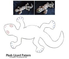 Plush Lizard Pattern