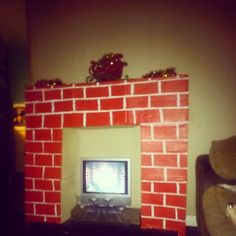 My Magic Fireplace, surprisingly easy to make! Christmas Fireplace, Homemade Christmas, Magic, Frame, Easy, Home Decor, Picture Frame, Decoration Home, Room Decor
