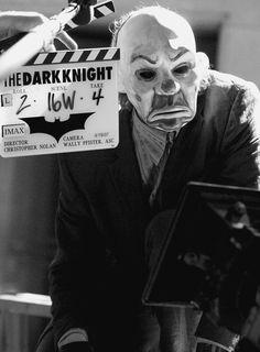 Heath Ledger as the Joker wearing a clown mask in 'The Dark Knight' 2008.