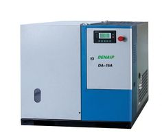 DENAIR Standard Oil-injected Screw Air Compressor  Model: DA-15 Working Pressure(Mpa): 0.75 Air Delivery(m3/min): 2.1 Voltage and IP Grade: 380V IP54 Starting Method: Belt/Air Cooling Noise: 63±2 Dimensions LxWxH(mm): 1000x900x1150 Weight(kg): 430 Outlet Pipe Diameter: G1 EEI: EEI2 Qualification And Quality Certificate: GC energy-saving Certification, CE European Union standard Certification, ISO9001 the United Kingdom LRQA Certification