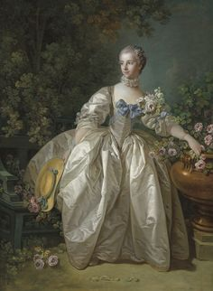 François Boucher (French, 1703 - 1770 ), Madame Bergeret, possibly 1766, oil on canvas, Samuel H. Kress Collection National Gallery Washington, D.C. High Res source National gallery website Rococo/18th Century/French Fashions