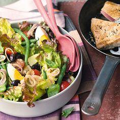 Salade niçoise au thon - Nizza-Salat mit Thunfisch Rezept   Küchengötter