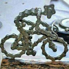 """javi-ballestero:  """"By @chouaibelhouari #trofeo #ciclista #esculture #cadena #chainring #cycling #ciclismo #premio  #escultura #regalo #gift #trophy  """"  the will to persevere"""