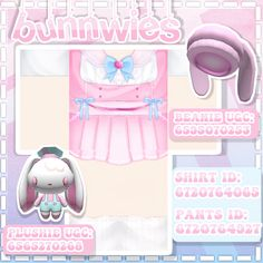 Here are four soft aesthetic/kawaii Roblox outfits with matching hats. If you have any questions or suggestions for future posts, comment them below. You may pin and share these as you please ❤️ #Roblox #RobloxOutfits #RobloxClothing #Kawaii #SoftAesthetic #Pink Roblox Shirt, Roblox Roblox, Pink Outfits, Retro Outfits, Rgb Color Codes, Cool Avatars, Roblox Codes, Roblox Pictures, Kawaii Clothes