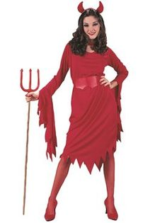 Adult Devil Lady Costume By Fancy Dress Ball