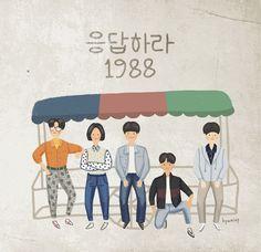 Pop Art Wallpaper, Cartoon Wallpaper, Cute Illustration, Graphic Design Illustration, Korean Drama Movies, T Art, Korean Art, Fanarts Anime, Couple Art