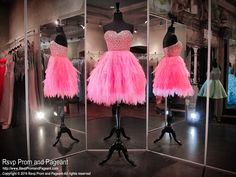 Hot Pink Strapless Sweetheart Homecoming Dress