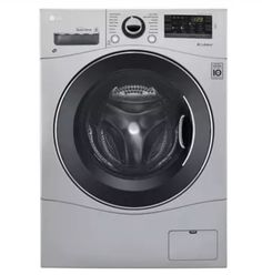 LG Washer/Dryer Combo with cu. Capacity, Stainless Steel Drum in White Washer Dryer Combo - All-in-One Lg Washer And Dryer, Stainless Steel Drum, Front Load Washer, Laundry Room Storage, Laundry Closet, Laundry Rooms, Small Laundry, Laundry Area, Home