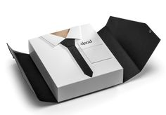 """""""Suits you sir""""  A cardboard, snazzy dresser by Mat Bogust, via Behance"""