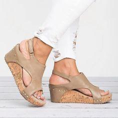 Women Sandals 2018 Wedges Shoes Women High Heels Sandals With Platform Shoes Female Wedge Heels Peep Toe Women Summer Shoes Mid Heel Sandals, Peep Toe Shoes, Shoes Heels Wedges, Platform Wedge Sandals, Womens Shoes Wedges, Womens High Heels, Wedge Shoes, Shoes Sandals, Shoe Boots