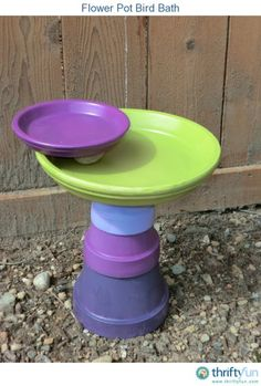 Flower pot bird bath >>…