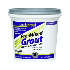 Custom PMG165QT 1-Quart Simple Premium Grout, Delorean Gray - Tile Grout - Amazon.com