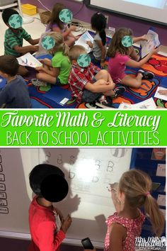 Favorite classroom activities for the beginning of the year.  These back to school centers and ideas are perfect for kindergarten.  Math, reading, and writing ideas are included. via @deedee_wills
