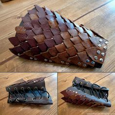 Leather dragon scale bracer.