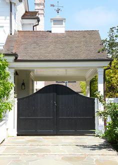 Side garage porte cochere gate. Cynthia Childs Architect.