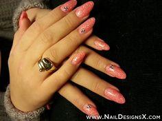 pink acrylic nail art » Nail Designs & Nail Art