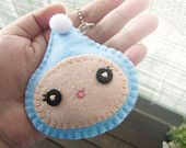Raindrop plush Keychain - Kawaii Keychain -  felt keychain -  cute raindrop felt key chain - READY TO SHIP