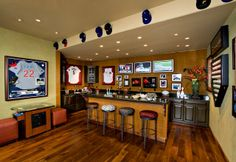 Fun Man Cave for the Baseball enthusiast.