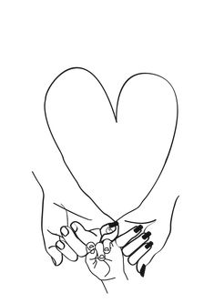 Parent Pinky Promise Family Line Art Mother Father Baby Couch Throw Pillow by Honeymoon Hotel - Cover x with pillow insert - Indoor Pillow Baby Tattoos, Cute Tattoos, Mother Father And Baby, Pinky Promise Tattoo, Black And White Picture Wall, Baby Bathroom, Abstract Face Art, Doodle Tattoo, Hand Embroidery Videos