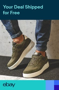 757d839cef6 New NIKE Air Force 1 Low Shoes Mens olive green all sizes