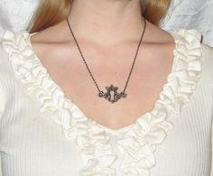 Keyhole Necklace by WistfulWhimsyDesigns on Etsy, $5.00
