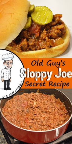 Good 'nuff for Company Sloppy Joe Sloppy Joe will never be the same. I get frequent requests for this recipe, and it's good enough for when company comes to dinner. I hope you enjoy it as much as I do. Meat Recipes, Dinner Recipes, Cooking Recipes, Recipies, Potluck Recipes, Drink Recipes, Cake Recipes, Dessert Recipes, Sloppy Joes Recipe