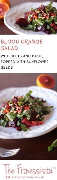 This bright and savory blood orange salad with beets and basil is a delightful and refreshing addition to your meal. fitnessista.com