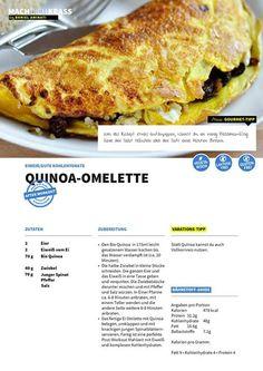 Für alle fleissigen, die ihr Workout beendet haben, gibt's ein krasses Quinoa-Omelette!