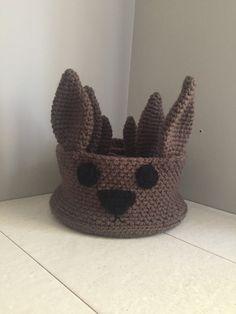 Crochet rabbit storage baskets pattern