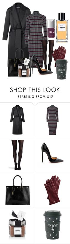 """""""Untitled #1224"""" by gyarodriguez ❤ liked on Polyvore featuring T By Alexander Wang, SPANX, Christian Louboutin, Yves Saint Laurent, Mark & Graham, FREDS at Barneys New York, Miss Étoile, Christian Dior and Chanel"""