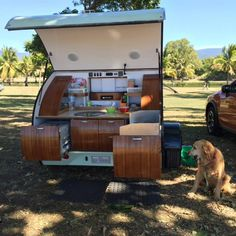 Gidget teardrop camper takes sliding approach to extra space Camper Trailer For Sale, Small Trailer, Vintage Campers Trailers, Vintage Airstream, Camper Trailers, Rv Campers, Travel Trailers, Tiny Trailers, Small Campers