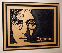 John Lennon Wood Carving by cassedywooddesigns on Etsy, $28.00 Still miss him after all these years