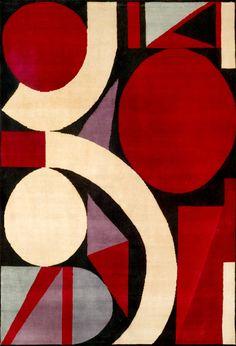 """Auguste Herbin (1882 - 1960), voisin d'atelier de Braque et de Picasso, étudie également le cubisme dont l'influence l'incite à créer ses premières toiles cubistes dès 1913. L'artiste conçoit en 1946 """"l'alphabet plastique"""", un système de composition reposant sur la structure des lettres et qui constitue le fondement de l'organisation de ses toiles. Le tapis n°65 de la collection Boccara montre sa maîtrise de la composition et de la couleur. Auguste Herbin (1882 - 1960), a Braque and…"""