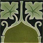 Art Nouveau tiles decorated -  Art Nouveau F 28a